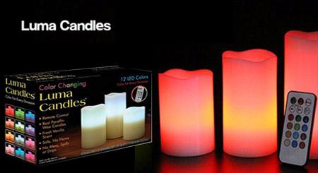 شمع ال ای دی ۱۲ رنگ – Luma Candles