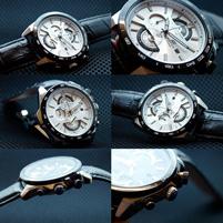 ساعت کاسیو بند چرم – مدل EFR-520